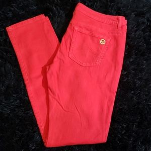 Red MICHAEL KORS jeans size 8.